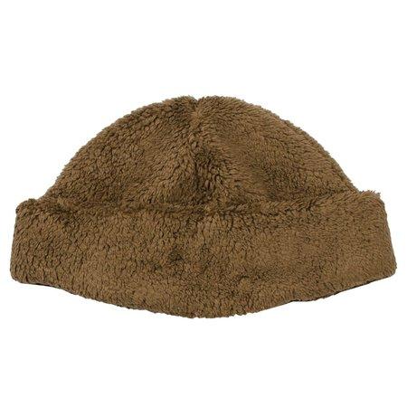cableami  Boa Fleece Drawcord Hat - Brown