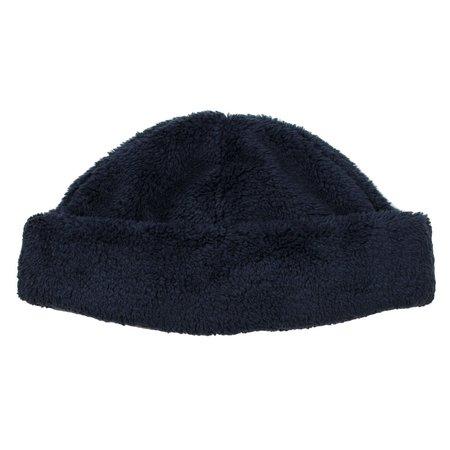 cableami Boa Fleece Drawcord Hat - Navy