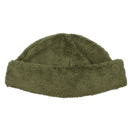 cableami Boa Fleece Drawcord Hat - Olive