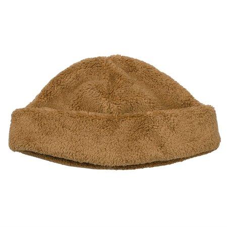 cableami  Boa Fleece Drawcord Hat - Tan