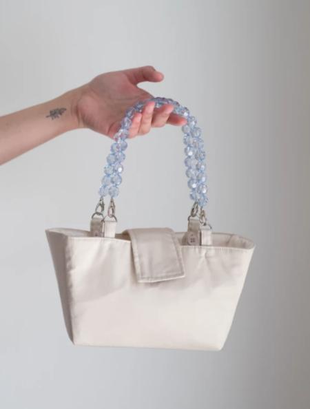 Folk Fortune Interchangeable Handle Cotton Bag - Cream