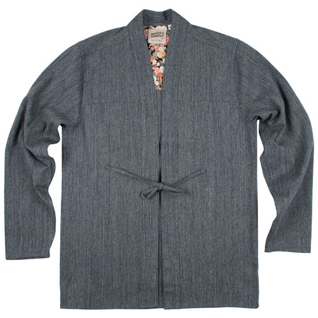 Unisex Naked and famous Denim Kimono Shirt Hank-Dyed Speckled Twill