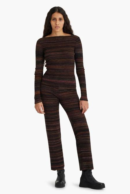 Paloma Wool Fabia Ribbed Knit Pants - Black