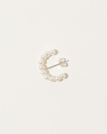 Vibe Harsløf Iris Half Hoop Many Pearls - Silver