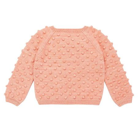 Kids Misha & Puff Popcorn Sweater - Grapefruit Pink