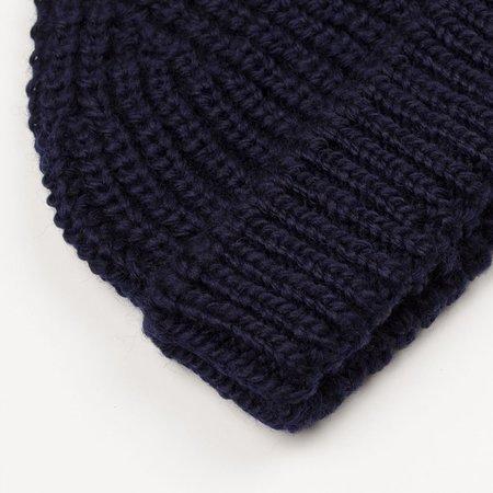 cableami British Wool Short Beanie - Navy
