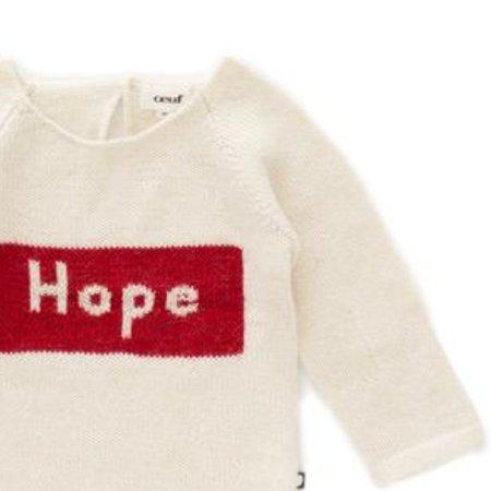 kids Oeuf Hope Knit Sweater - white