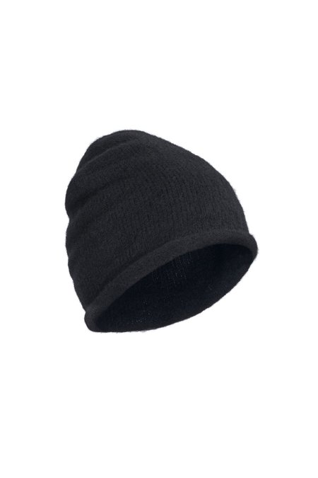 Isabel Benenato Wool Beanie - Black