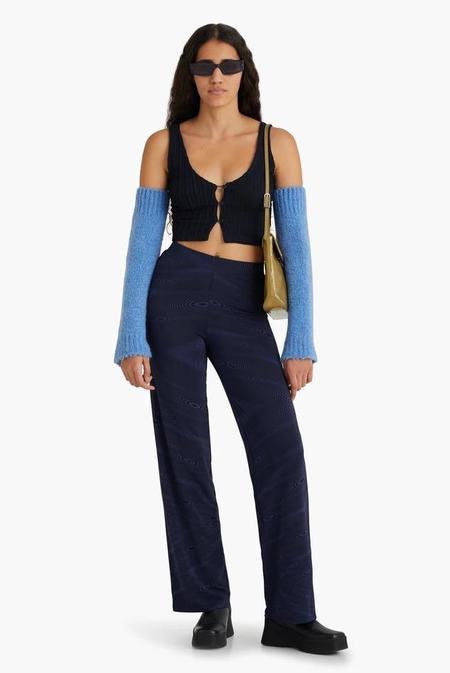 Paloma Wool Galileo Fractal Wave Pant - Navy