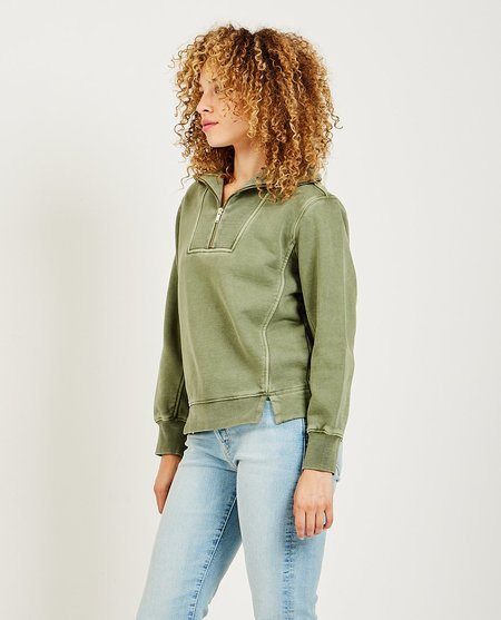 Alex Mill Crosby Half Zip Pullover - Green