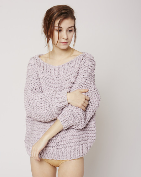 I love Mr Mittens Boatneck jumper in lilac