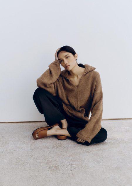 Mónica Cordera Ecowool Polo Sweater - Acorn