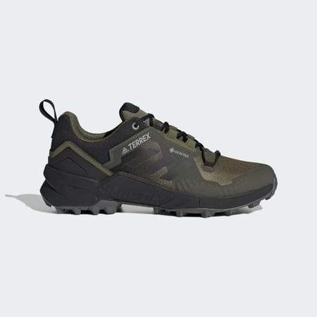 Adidas TERREX SWIFT R3 GORE-TEX HIKING SHOES - Focus Olive/ Core Black/ Grey Five