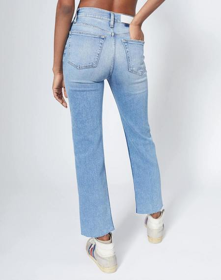 RE/DONE Comfort Stretch High Rise 70s Stove Pipe Denim - Light Stone