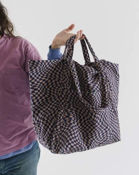 BAGGU Travel Cloud Bag - Indigo Trippy Checker