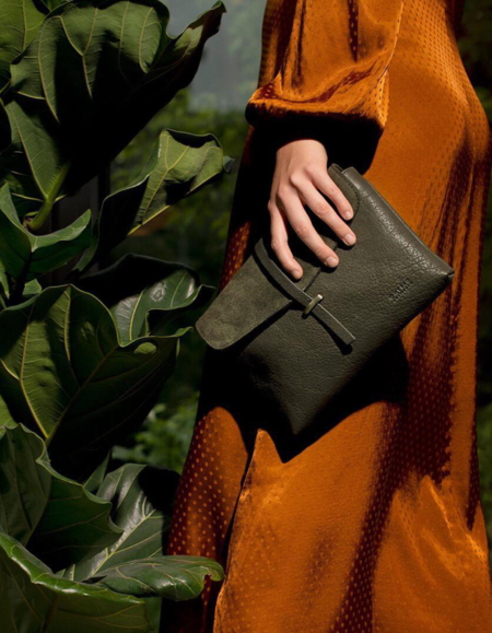 O My Bag Amsterdam Midi Soft Grain Ella Bag - Green