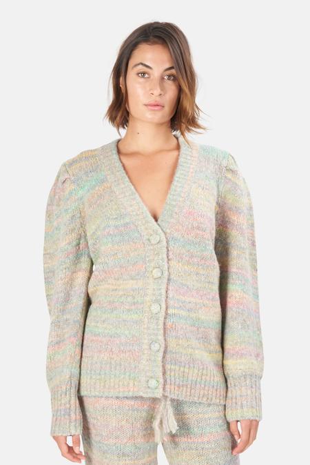 LoveShackFancy Wilford Boyfriend Cardigan Sweater - Autumn Rainbow