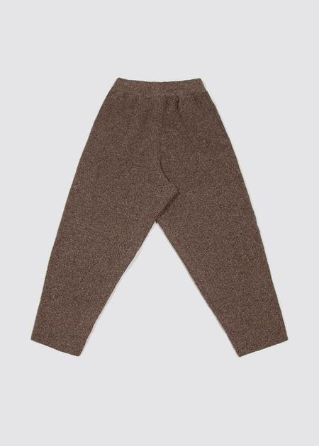 Mónica Cordera Soft Wool Pants - Deep Taupe