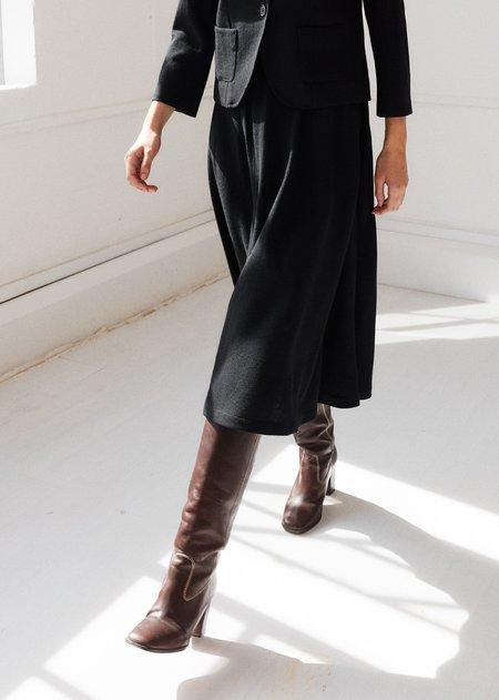 Caramel Flared Skirt - Black