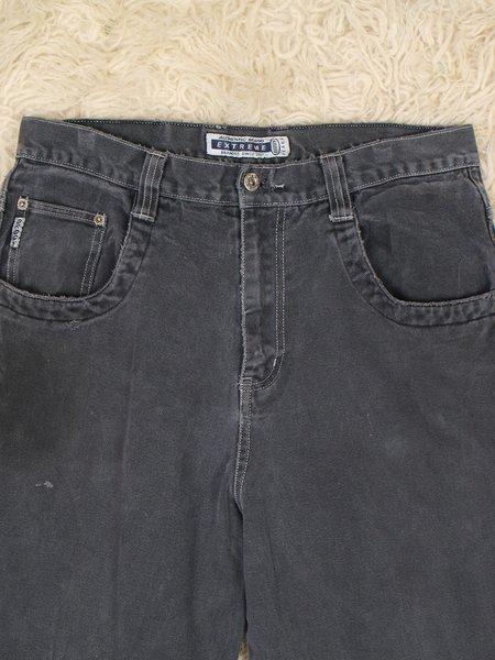 """Vintage 34"""" brody extreme jeans - grey/black"""
