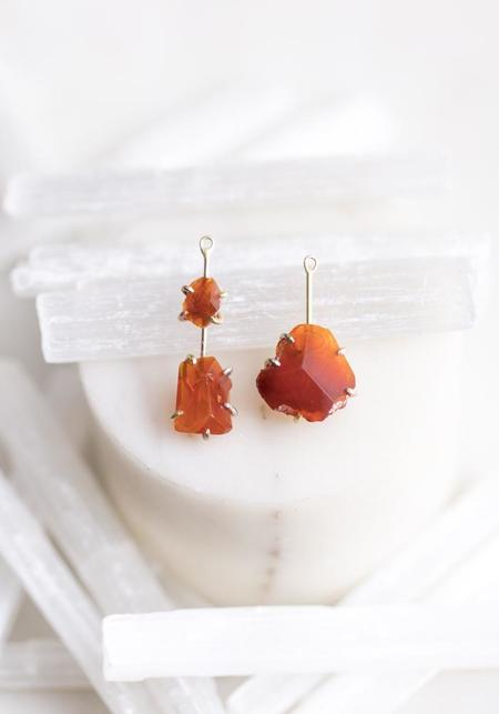 Variance Objects 14KT-18KT Gold Mexican Fire Opal Drops - Gold
