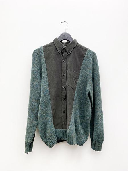 Unisex Bless Frontinsert shirt - Green/Grey