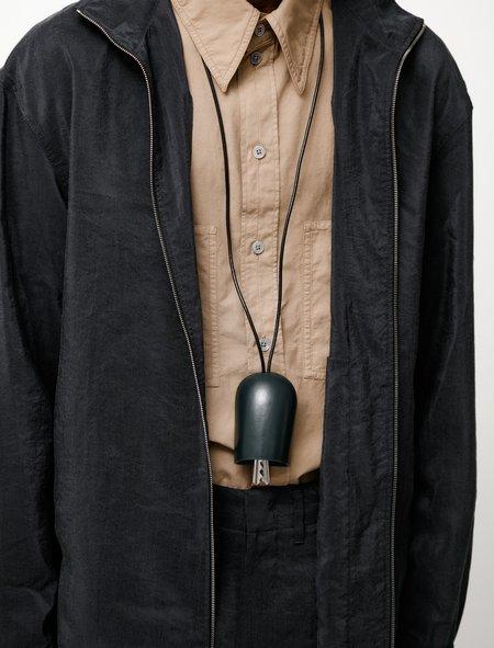 Lemaire Molded Key Holder - Midnight Green