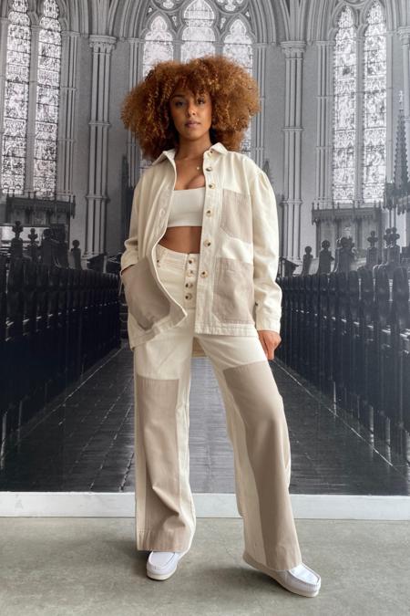 L.F.Markey Wilder Utility Jeans - Ivory