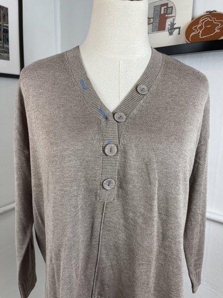 [Pre- Loved] Revival Lilla P. Button Front Sweater - Tan
