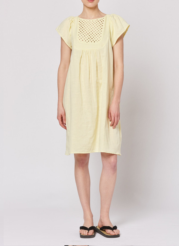 Built by Wendy Lattice Dress - Lemon