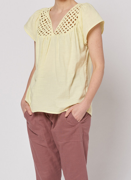 Built by Wendy Lattice Top - Lemon