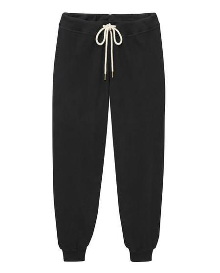The Great. The Cropped Sweatpant - Almost Black