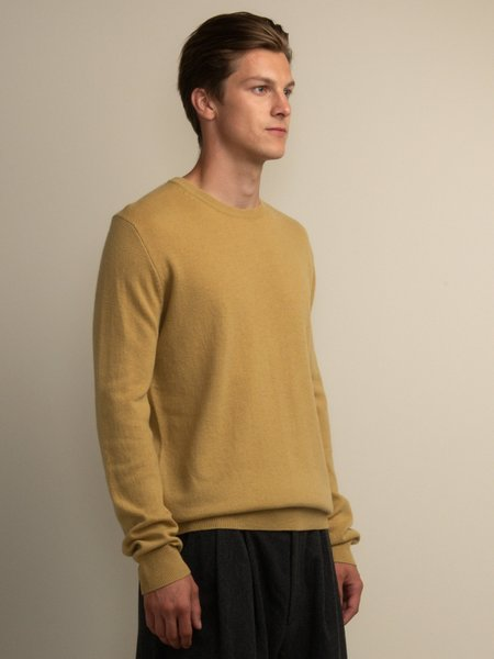 PURECASHMERE NYC Crew Neck Sweater - Golden Leaf