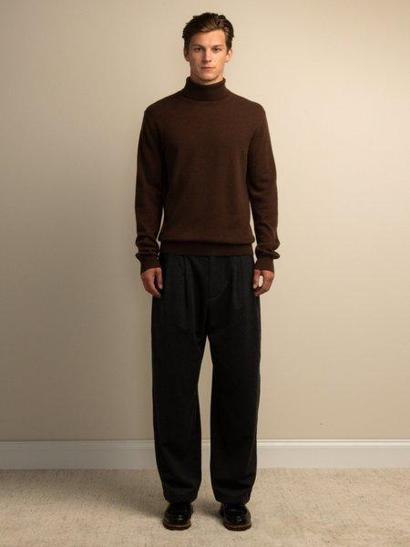 PURECASHMERE NYC Men Turtleneck Sweater - Brown