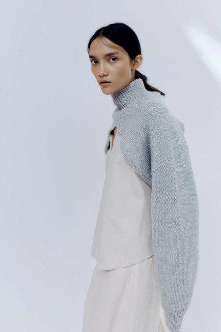 Mónica Cordera Ecowool Collar Sleeves TURTLENECK - Silver Grey