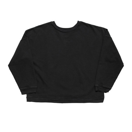 Unisex Olderbrother Drop Shoulder Crew - Black Indigo