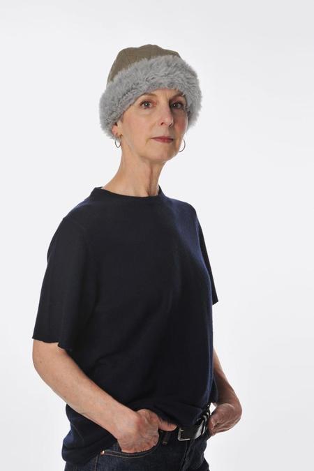 Mature Ha Quilted hood cap - Olive