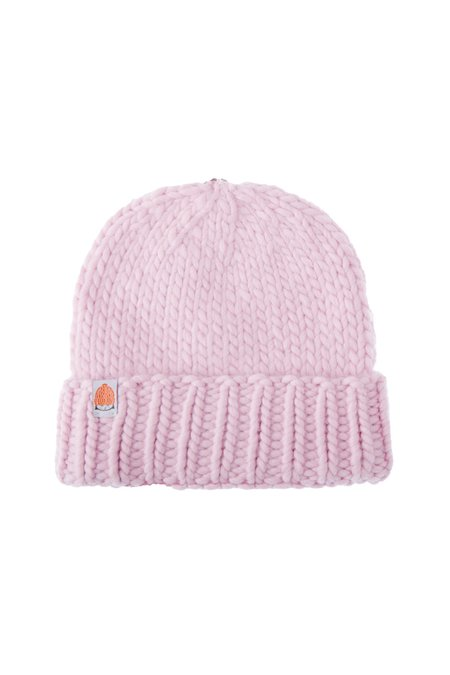 Shit That I Knit The Rutherford Wool Pom Beanie - Blush