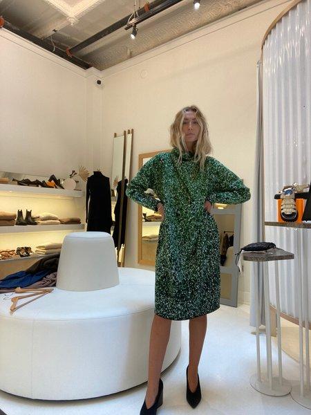 Anntian 084-A Knit Dress - Green Marled