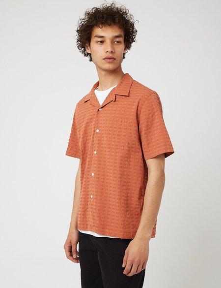 Bhode Cuca Cuban Collar Shirt - orange