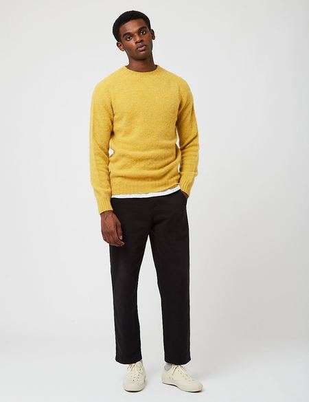 Bhode Supersoft Lambswool Jumper sweater -  Yellow