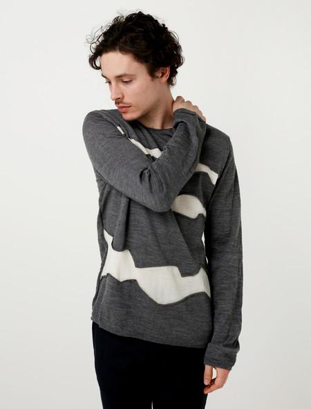 Comme des Garçons Shirt Patchwork Pullover Knit Grey