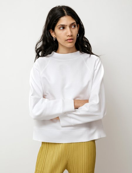 Margaret Howell MHL Kit Loopback Jersey Sweater - White