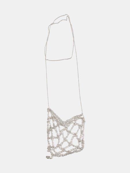 Arielle De Pinto Netted Drop necklace - Silver