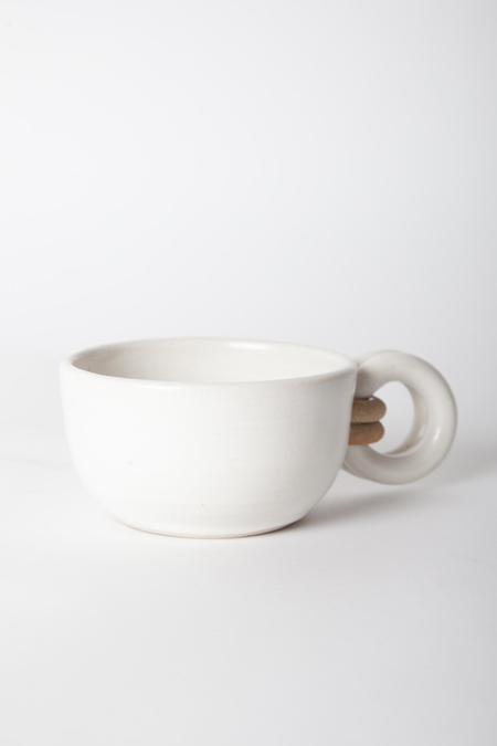 Jan Schachter Cappuccino Mug - White Satin