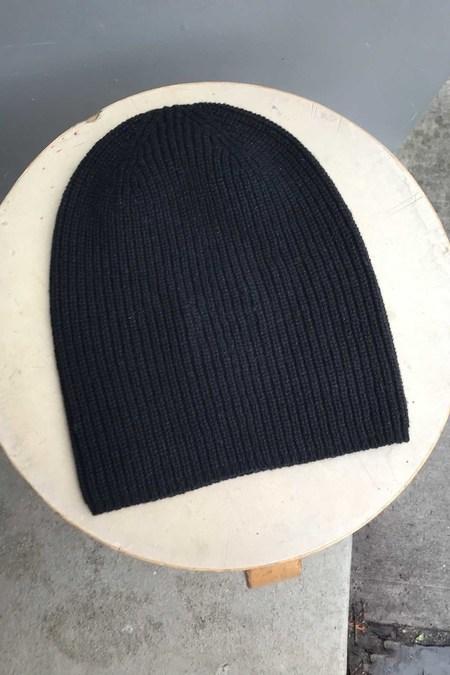 Unisex M.Patmos Recycled Cashmere Beanie - Black