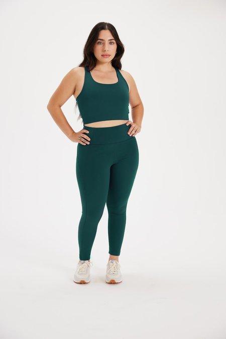 Girlfriend Collective Globe High Rise Compressive Legging - Green