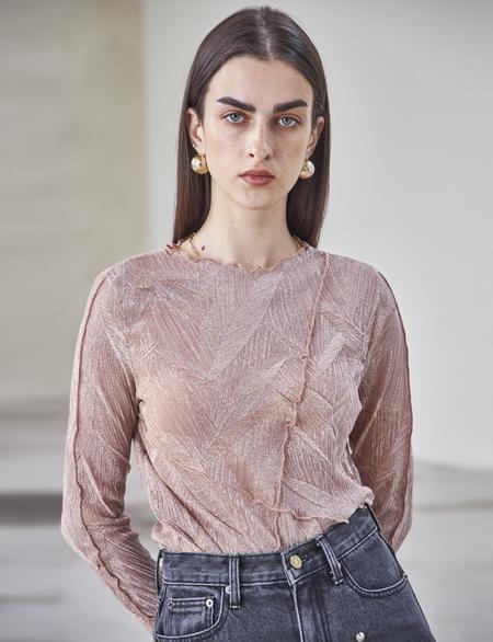 Maison De Ines METALLIC T-SHIRT - pink