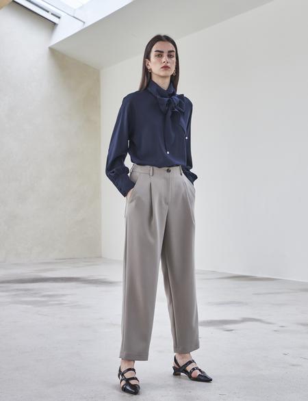 Maison De Ines PINTUCK PANTS - gray