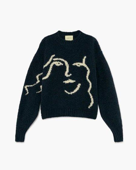 Unisex Paloma Wool Anita Sweater - Granite/Dark Green